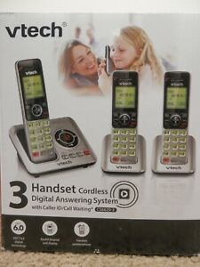 VTech CS6629-3 DECT 6.0 Expandable Cordless Phone With Digital Answering System,