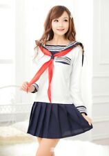 Cute Student School Girl Navy Cosplay Uniform Role Play Party Wear, UK Size 8-12