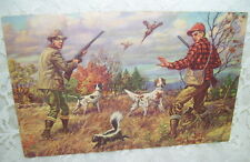 ANTIQUE HUNTING PRINT TITLED HOLD EVERYTHING HUNTERS BIRD DOGS SKUNK