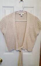 White House /Black Market Beige Knit Shrug. Size L