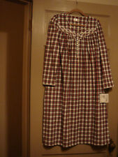 ARIA FLANNEL NIGHTGOWN RED WHITE BLACK PLAID SMALL NEW WITH TAGS $68 RTL