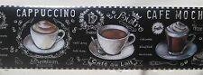 Coffee Cafe Cappuccino Mocha Kitchen Wallpaper Border 6""