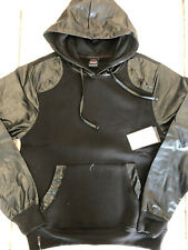 NWT Enyce a Sean Combs co. Black star pleather Sleeve hoodie SZ: M,L,XL,2XL $54