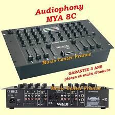 Audiophony MYA8C MYA 8C  table de mixage - 8 voies - 19 pouces - NEUVE G= 3 ANS