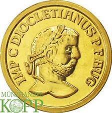 R562) BELGIEN 25 ECU 1989 - Diocletian - ¼ oz. Gold