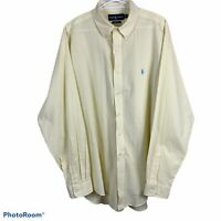 Polo Ralph Lauren Classic Fit Button Down Shirt Mens XL Long Sleeve Stripped