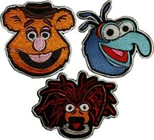 Set Muppets Embroidered Patches Fozzie Bear Gonzo Pepe the King Prawn Faces Show