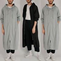Men's Zip Up Hoodies Jacket Sweatshirt Hooded Sports Gym Long Sleeve Cape Cloak