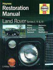 Land Rover Serie 1 2 3 I-III (88 109) Restauration-Handbuch restoration manual