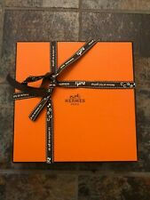 "$1050 NWT Hermes Men's Leather Belt with ""hand-hammered"" H Buckle in Box 110cm"