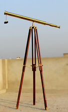 Antique Working Scope Telescope Vintage Tripod Stand Nautical Spyglass Xmas