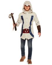 ASSASSIN'S CREED CONNOR HALLOWEEN COSTUME & TOMAHAWK COSPLAY BOYS HOODIE JACKET