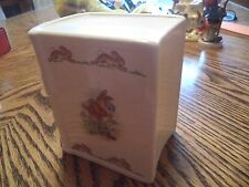 Royal Doulton Bunnykins Book Bank Made in England w/ Stopper Cooling Off