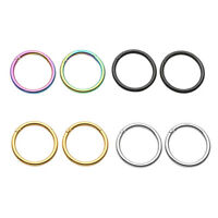 16G Stainless Steel Hinged Clicker Hoop Helix Cartilage Stud Tragus Ring 4Colors