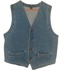 Vintage Stefano 1990's Men's Medium Denim Indigo Blue Vest EUC Retro
