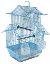 Two Story Bird Cage Blue House Style Starter Kit  Swing Perch Feeders