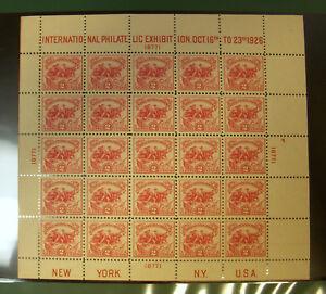 1926 US White Plains Sheet 2c Sc #630 NH Cat $600