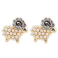 Fashion Women Lady's 1Pair Cute Sheep Animlals Ear Stud Earrings Jewelry Gift