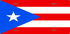 "PUERTO RICO FLAG full size 6"" x 12"" aluminum vanity Puerto Rican license plate"