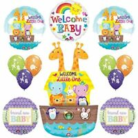 12 pc Noahs Ark Cute and Cuddly Jungle Animal Latex Welcome Baby Baby
