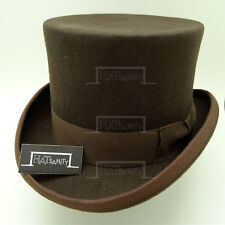 CLASSIC Wool Felt Men Tuxedo Top Hat Gentleman Victorian Topper | 61cm | Brown
