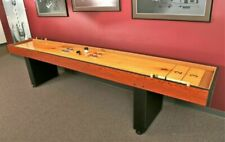 Airzone sb-3001-9 9ft Pinewood Shuffleboard Table - Brown Black Tan