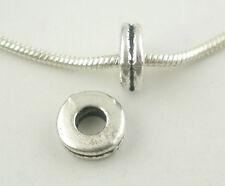 200 Bigiotteria Distanziatori Perle Tondo Argento antico 6x2mm