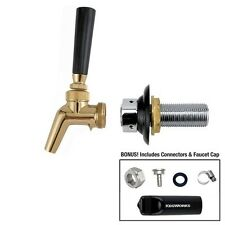 """Perlick 630SSTF Brass Faucet + 4"""" Shank + Connectors- Draft Beer Stainless Steel"""