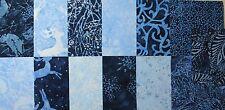 "TIMELESS TREASURES - SNOW ANGEL Blue & Indigo Christmas Batik - 5"" Charm Squares"