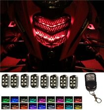 8pc Remote LED Snowmobile Neon Lights Pods Kit 2017 Yamaha SR Viper XTX STX RTX