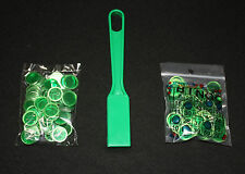 BINGO PAPER Cards, Green Magnetic Wand with 200 Green Chips NEW