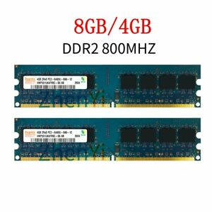 8GB 4GB 2GB 1GB DDR2 PC2-6400U 800MHz 240Pin Desktop DIMM Memory For Hynix LOT