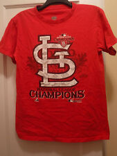 St. Louis Cardinals 2011 Natl League Champions Men's SS T-shirt, Small- Preowned