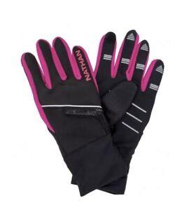 NWT Nathan SpeedShift Lightwave LED Tech Running Gloves, Pink Women's M