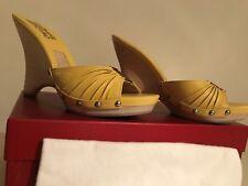 Ferragamo Ladies Yellow Sandals -RRP of most Ferragamo Shoes around£495 BARGAIN