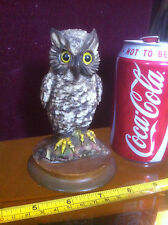 Owl Ornament Collectable Bid Statue Animal Brown Owl