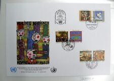 TIMBRES DES NATIONS UNIES : 1993 DECLARATION DES DROITS DE L'HOMME - 3 BUREAUX