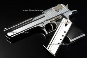 Mini Model Gun - Desert Eagle (Shell Eject, Silver) For Display Only
