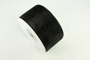 "1-1/2"" Organza Sheer Plain Ribbon 25 yards each Roll 100% Nylon"