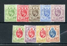 OFS 1903-04 ½d to 5/- wmk Crown CA set mint hinged. 5/- repaired. SG 139-47