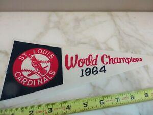 Vintage 1964 St Louis Cardinals World Champions Baseball Pennant