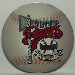 Vintage Pog / Milk Cap * Eckrick Minor Baseball * Richmond Braves * Bin128