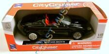 MUSTANG MACH III CONCEPT CONVERTIBLE 1:43 DIECAST NEW-RAY CITY CRUISER RED BOX
