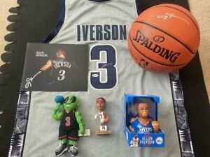 ALLEN IVERSON AUTOGRAPHED GEORGETOWN HOYA JERSEY, NBA BASKETBALL, PHOTO & DOLL