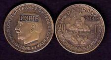 Pièces de monnaie françaises de 20 francs 20 francs en bronze à 40 francs