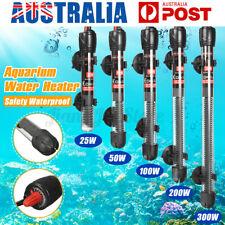 AU Aquarium Water Heater 25-300W Submersible Fish Tank Thermostat Heating