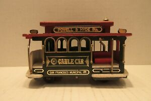 Musical Cable Car Wooden San Francisco Powell & Hyde Sts California Collectible