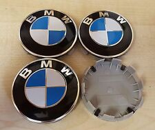 4x bleu couleur originale pour bmw plus series 68mm roue alliage centre caps 10 broches