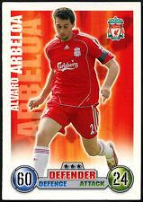 Alvaro Arbeloa Topps Match Attax, Liverpool Fútbol 2007-2008 tarjeta de comercio (C395)
