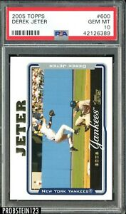 2005 Topps #600 Derek Jeter New York Yankees HOF PSA 10 GEM MINT